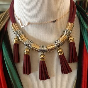 Tassel Set of Necklace & Earrings (4 color…